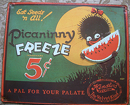 ADVERTISING HENDLERS PICANINNY FREEZE METAL SIGN